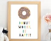 PRINTABLE. Wall Art.Donut...