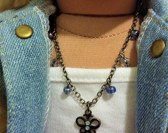 Butterfly W/ Blue Glass Beads 11A