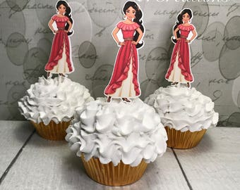 Elena of Avalor Cupcake Toppers