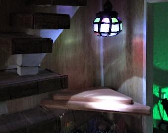 1:12 Dollhouse decorative hanging light, LED light, small light, Tiffany light