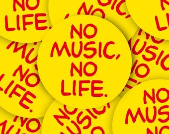 No Music No Life Stickers