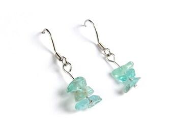 Silver earrings, Blue apatite jewelry, healing gemstone jewelry, natural gemstone earrings, vegan earring, vegan jewelry nature earring ahin