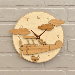 Airplane Clock Etsy
