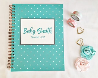 Personalized pregnancy planner, mom to be gift, pregnancy tracker, maternity gift, pregnancy journal, first Mother's Day gift