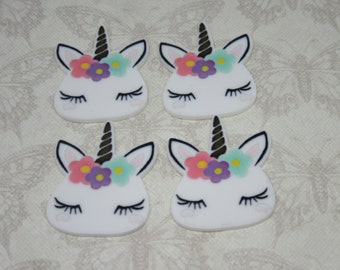 Unicorn Planar FlatBack Resin Cabochon Decoden Kawaii DIY Craft Embellishment Scrapbook Hair Bow Centre Phone Case