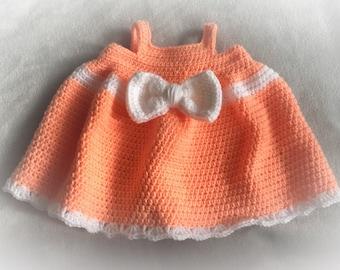 Crochet baby dress 3-6 months