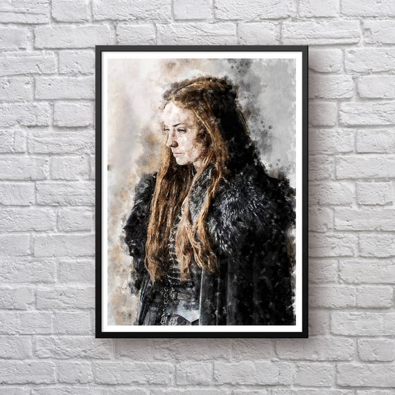 Sansa Stark Game Of Thrones Print House Stark Poster Sophie