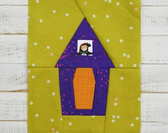 Halloween House, a paper piecing pattern