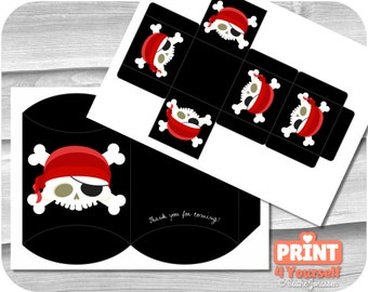 Pirate Skull Gift Boxes - Instant Download