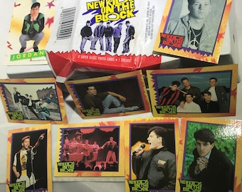 New Kids On The Block Trading Cards 1 Pack Opened No Sticker No Gum Topps 1989 Pop Music