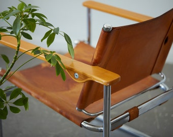 Rare Thonet Leather Chair