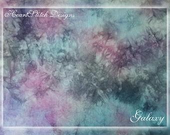 Galaxy - hand dyed linen/aida/evenweave