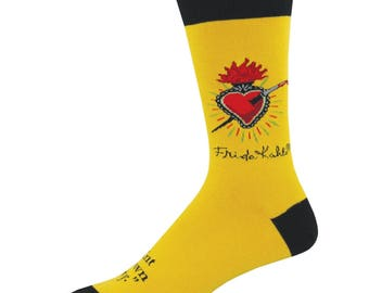 Frida Kahlo Heart Mens Socks