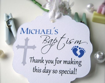 Baby baptism favor tags, christening favor tags, baptism tags, party favor tags, religious tags, cross favor tags, favor tags -30 count(rt3)