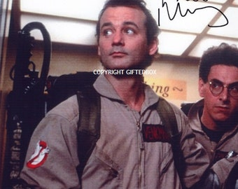 Limited Edition Bill Murray Ghostbusters Signed Photo + Cert PRINTED AUTOGRAPH