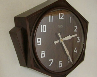 1920s/1930s Smiths Sectric Vintage Art Deco Wall Clock