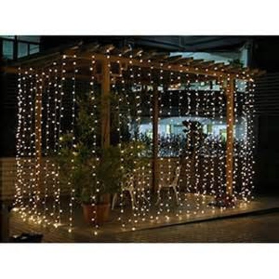 Description. 300/600 Led Window Curtain Icicle Lights String ...