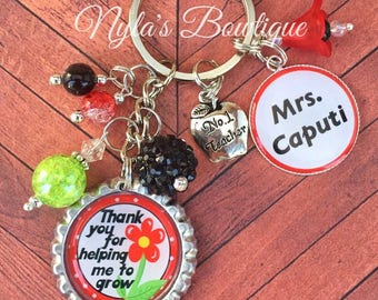 Personalized Teacher Keychain, Teacher Gift, Teacher Keychain, Gift for Teacher, Personalized Gift for Teacher, Thank You Gift for Teacher