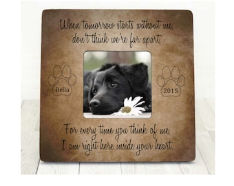 Pet Loss Memorial Pet Sympathy Gift Dog Cat Perfect Companions Forever in Our Hearts Personalized Picture Frame