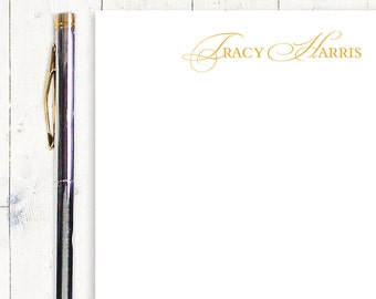 personalized notePAD - ELEGANT INITIALS - stationery - stationary -  fancy notepad - letter writing paper
