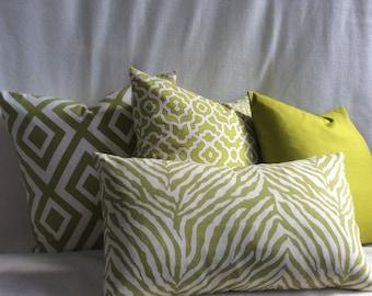 Green/white Pillow Cover Group