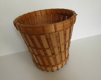 Splint & Wicker Woven Basket