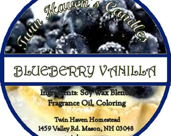 Blueberry Vanilla Scented Candles