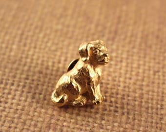 Avon Gold Tone My Favorite Pet Pin Lovable Mutt Gold Tone Dog - Vintage 1984