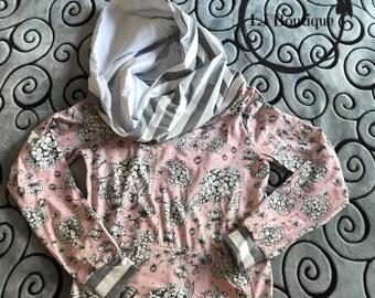 Women's s/m cowl neck hoodie