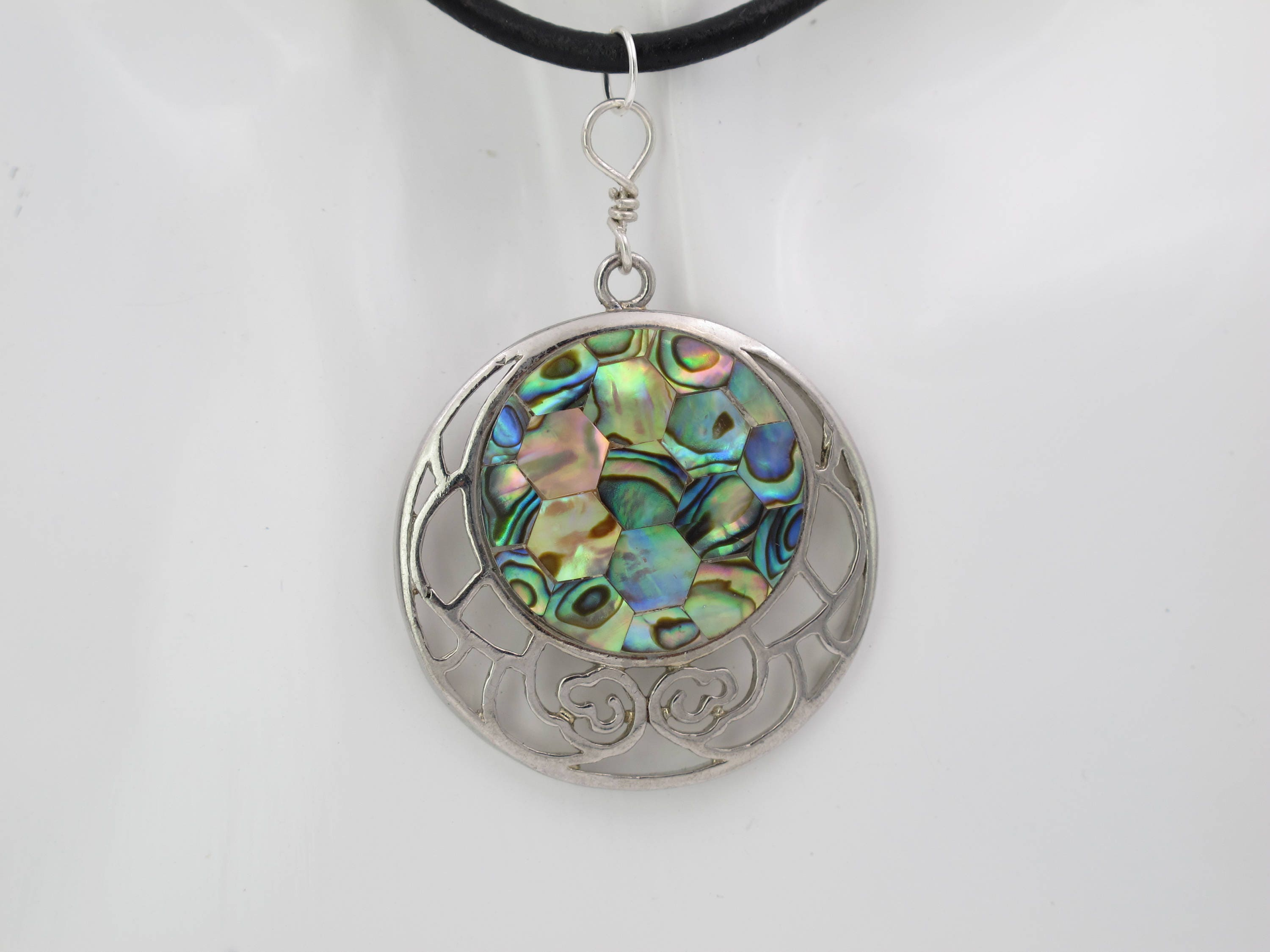 necklace paua aqua sea rustic blue abalone bohemian peacock teal wrapped green il jewelry iridescent natural copper fullxfull pendant wire p shell