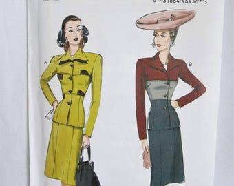Vintage Dress Pattern, 40s Dress Pattern, 40s Dress, Jacket Pattern, Vintage Dress, 40s Dress, Retro Butterick, Butterick 6286, Butterick