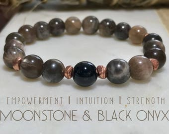 Moonstone & Black Onyx bracelet.