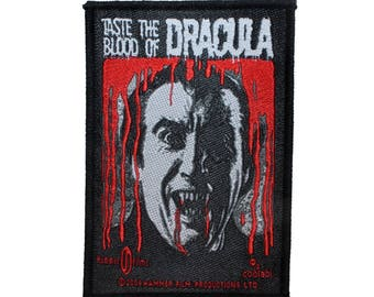Hammer Films Taste the Blood of Dracula Patch Classic Horror Sew On Applique