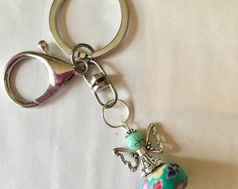 New New ApoloAngels Keychain, Guardian angel, Purse accessory, keychain.