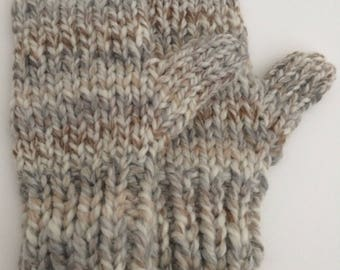 Knit Chunky Mittens