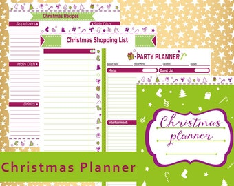 Christmas Planner, Holiday Planner, Christmas Organizer, Holiday planner pages, INSTANT DOWNLOAD