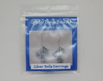CLEARANCE 3 Silver Bell Earring Kits