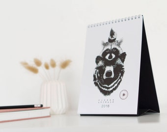 "Sale! Calendar 2018 Animals ""Forest animals 2018 – for Wild times""/Table calendar A5"