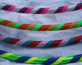 Toddler Hula Hoop - Three Color Spiral or Zig Zag Toddler Hoola Hoop