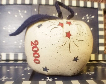 Fabric Apple Handmade Stars and 2000