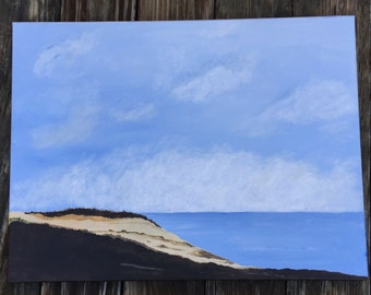 Clouds. Original acrylic painting 18x24. Beach scene painting