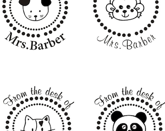 Personalized Teacher Self ink Custom Made Return Address Rubber Stamp great gift