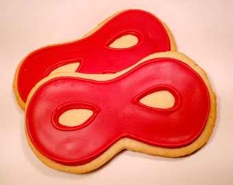 Superhero Mask Cookies (1 dozen)