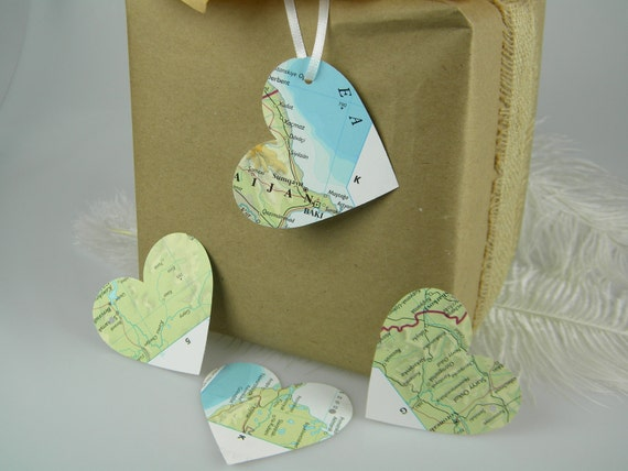 World maps recycled gift tags destination travel theme large heart world maps recycled gift tags destination travel theme large heart gift tags hole punched hang tags 2 34 wedding favor tags from morrelldecor on gumiabroncs Image collections