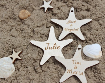 "2"" Starfish Wedding Favors, Wooden Tags, Beach Wedding Favors, Beach Favor, Starfish, Wedding Favors, Beach Wedding, Decor, Party, Shower"
