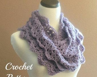 SPRING SALE CROCHET Pattern - Chunky Crochet Infinity Scarf Pattern, Infinity Cowl Pattern, Circle Scarf Pattern, Easy Crochet Pattern