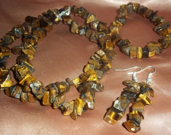 Tigers Eye Gemstone Nugget Set