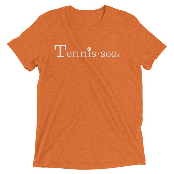 Tennis.see® Unisex Triblend Tennessee Tennis Tshirt Short sleeve t-shirt Several Color Options