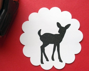 Fawn Deer Rubber Stamp Size Medium - Handmade  by Blossom Stamps