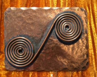 Modernist Francisco Rebajes Brooch - New York Greenwich Village Jeweler from the Dominican Republic